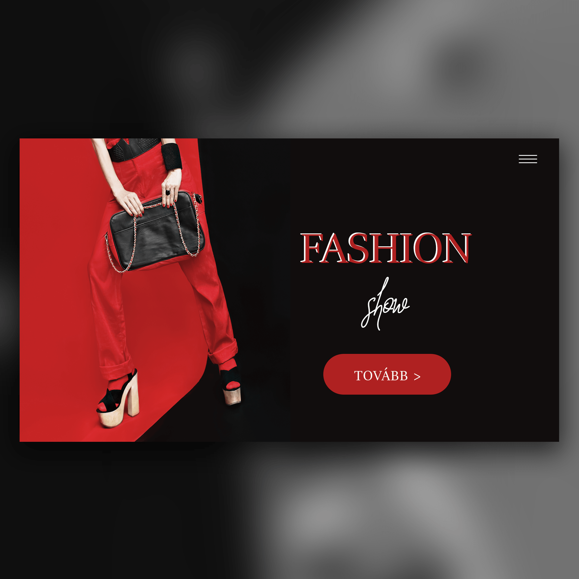 Fashion-show-weboldal-terv